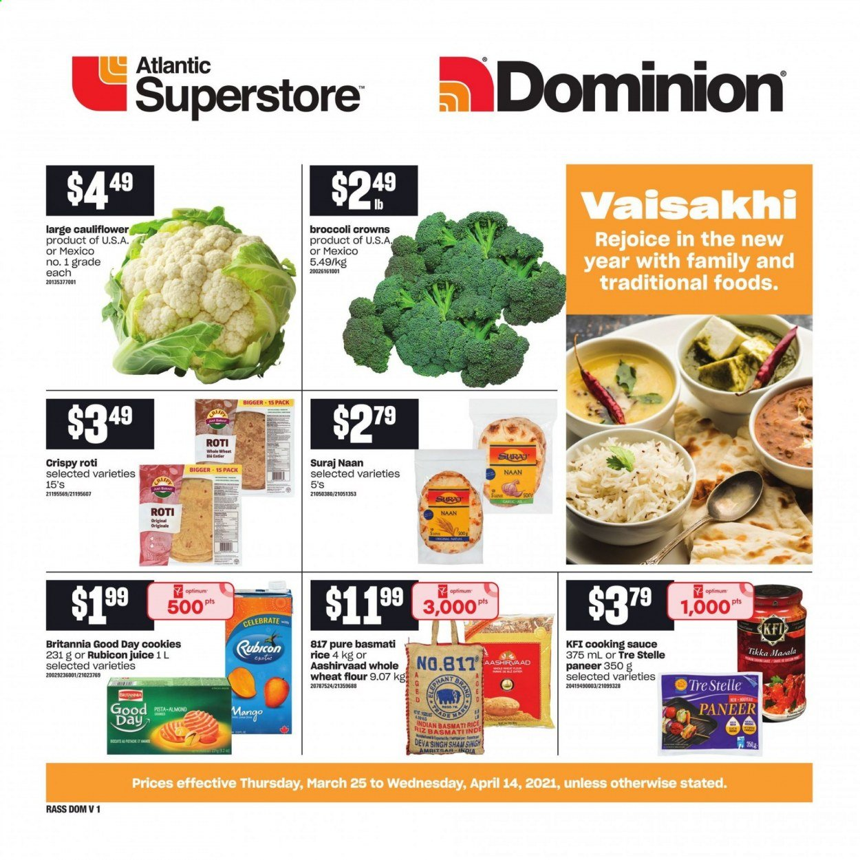 Atlantic Superstore Flyer  - March 25, 2021 - April 14, 2021. Page 1.