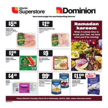 Atlantic Superstore Flyer - March 25, 2021 - April 21, 2021.