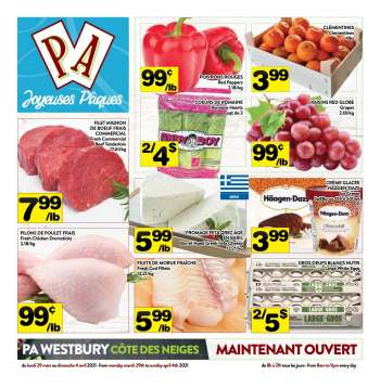 PA Supermarché Flyer - March 29, 2021 - April 04, 2021.