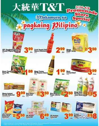 T&T Supermarket Flyer - March 26, 2021 - April 08, 2021.