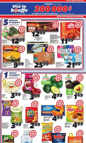 IGA Flyer - March 25, 2021 - April 28, 2021.