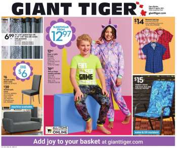 Giant Tiger Flyer - March 31, 2021 - April 06, 2021.