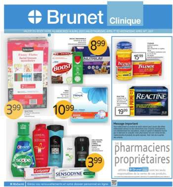Brunet Clinique Flyer - April 01, 2021 - April 14, 2021.