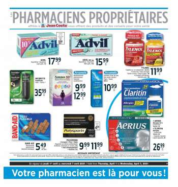 Jean Coutu Flyer - April 01, 2021 - April 07, 2021.
