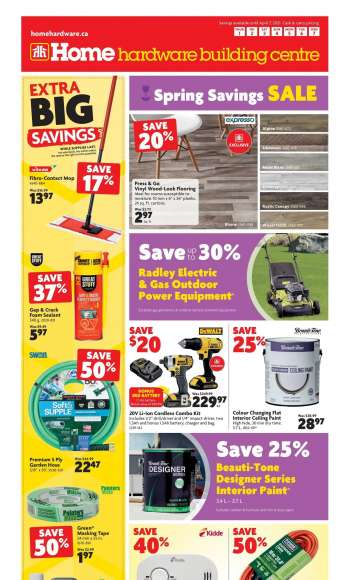 Home Hardware Building Centre Flyer - April 01, 2021 - April 07, 2021.