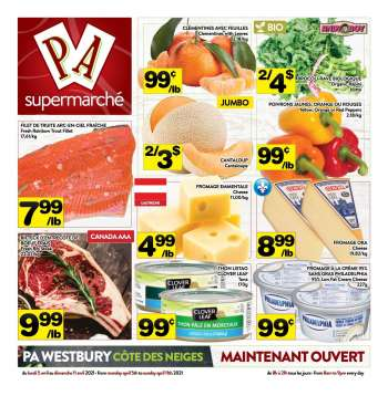 PA Supermarché Flyer - April 05, 2021 - April 11, 2021.