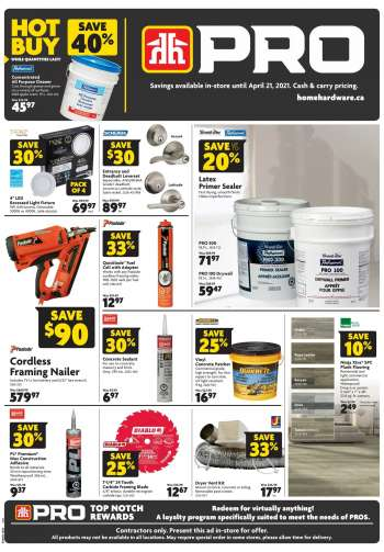 Home Hardware Flyer - April 08, 2021 - April 21, 2021.