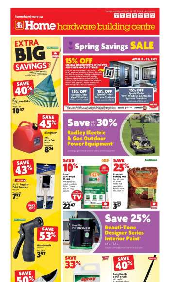 Home Hardware Building Centre Flyer - April 08, 2021 - April 14, 2021.