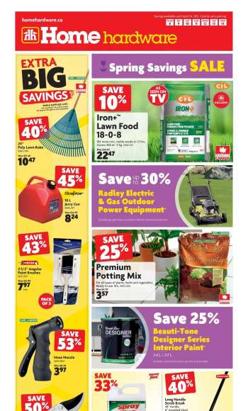 Home Hardware Flyer - April 08, 2021 - April 14, 2021.