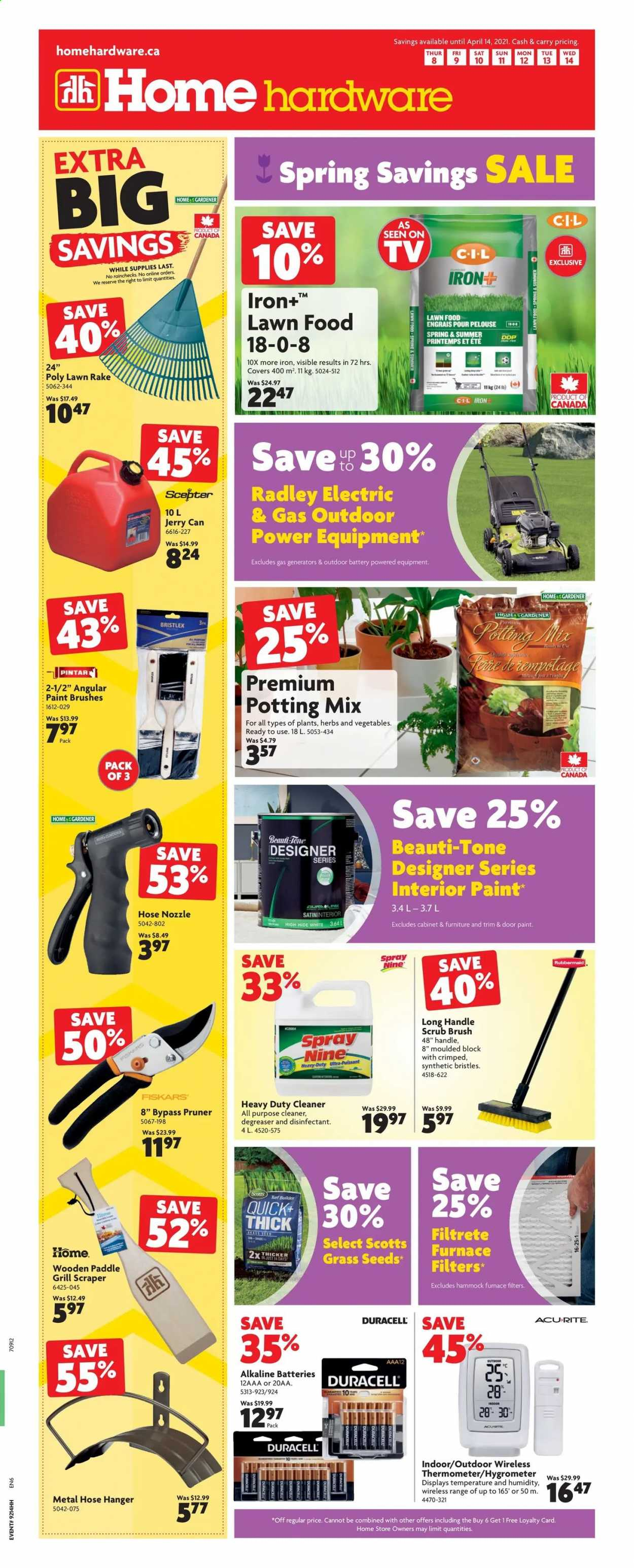 Home Hardware Flyer  - April 08, 2021 - April 14, 2021. Page 1.