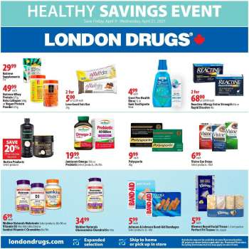 London Drugs Flyer - April 09, 2021 - April 21, 2021.