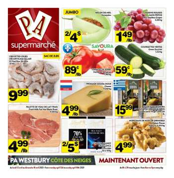 PA Supermarché Flyer - April 12, 2021 - April 18, 2021.