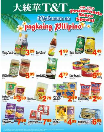 T&T Supermarket Flyer - April 09, 2021 - April 22, 2021.