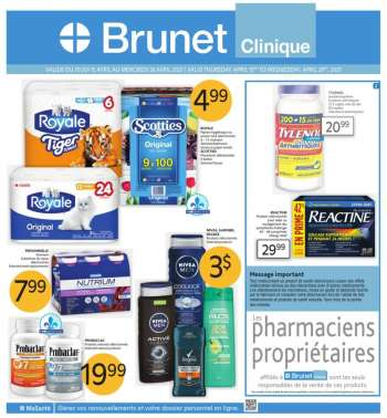 Brunet Clinique Flyer - April 15, 2021 - April 28, 2021.