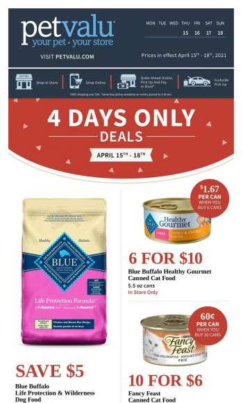 Pet Valu Flyer - April 15, 2021 - April 18, 2021.