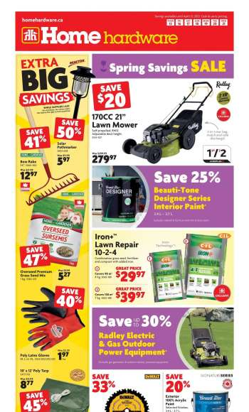 Home Hardware Flyer - April 15, 2021 - April 21, 2021.