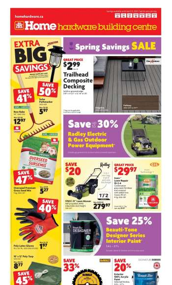 Home Hardware Building Centre Flyer - April 15, 2021 - April 21, 2021.