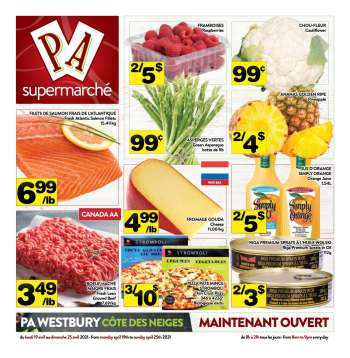 PA Supermarché Flyer - April 19, 2021 - April 25, 2021.