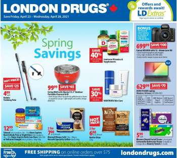 London Drugs Flyer - April 23, 2021 - April 28, 2021.