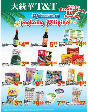 T&T Supermarket Flyer - April 23, 2021 - May 06, 2021.