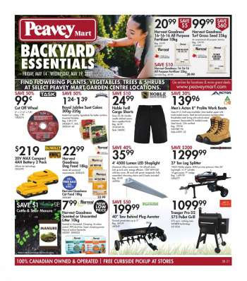 Peavey Mart Flyer - May 14, 2021 - May 19, 2021.