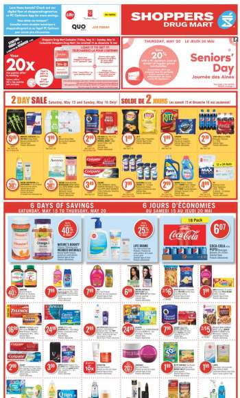 Shoppers Drug Mart Flyer - May 15, 2021 - May 20, 2021.
