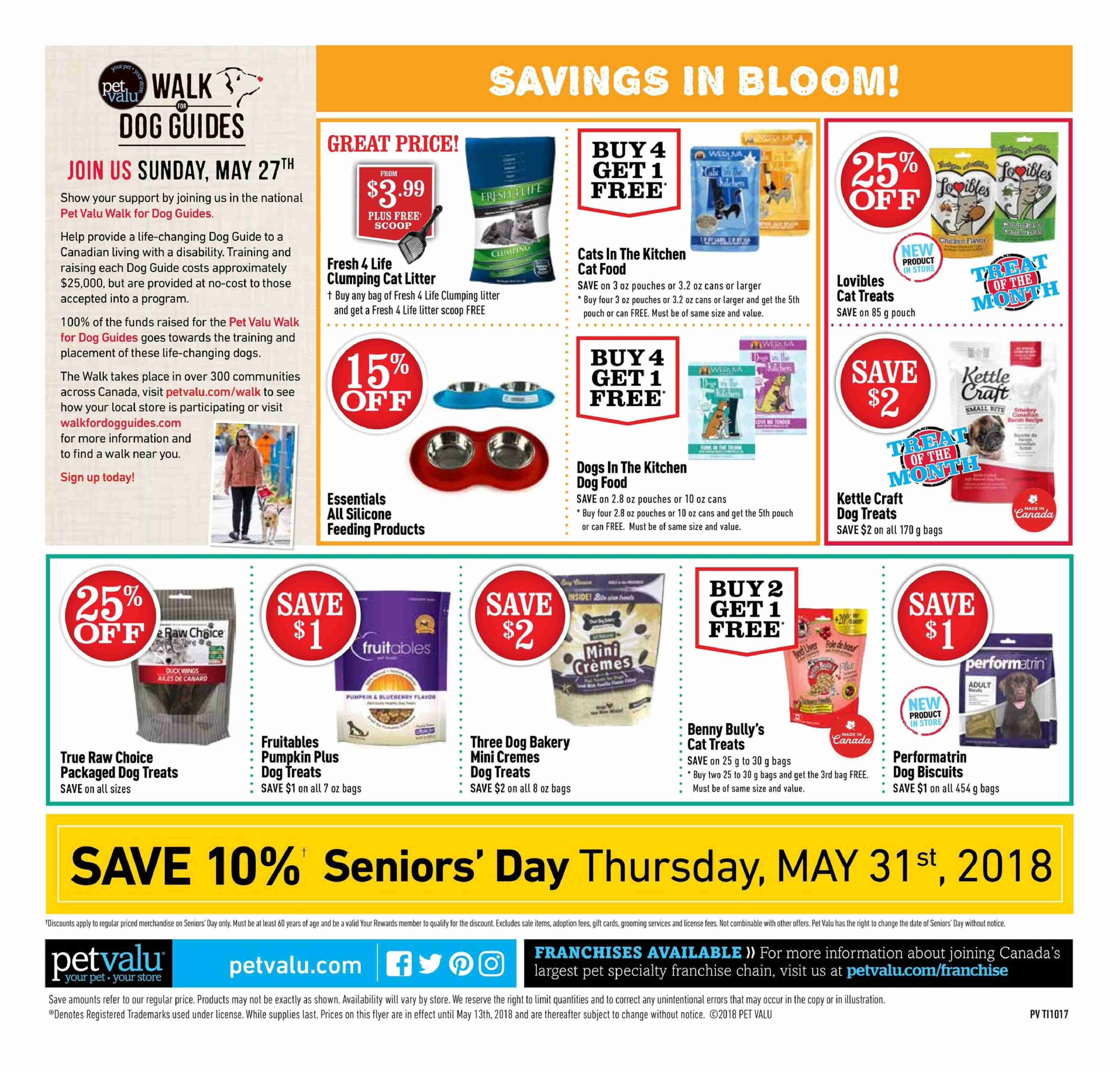 Pet Valu Flyer  - May 03, 2018 - May 13, 2018. Page 4.