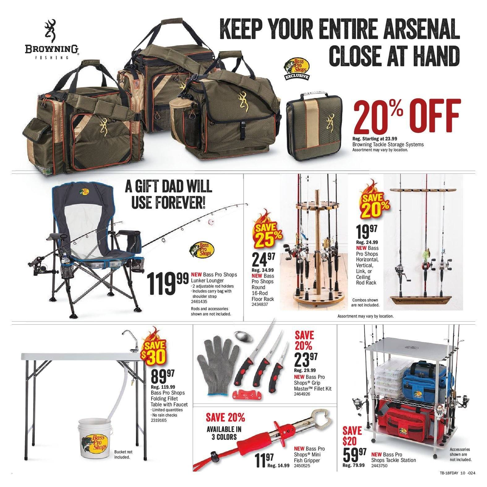 Bass Pro Shops Flyer  - May 29, 2018 - June 17, 2018. Page 10.