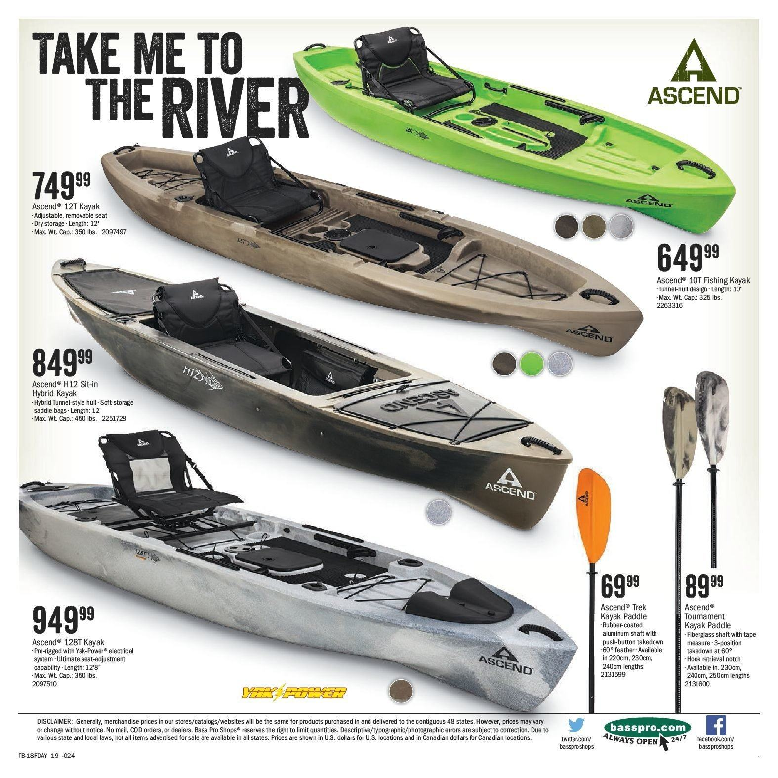 Bass Pro Shops Flyer  - May 29, 2018 - June 17, 2018. Page 19.