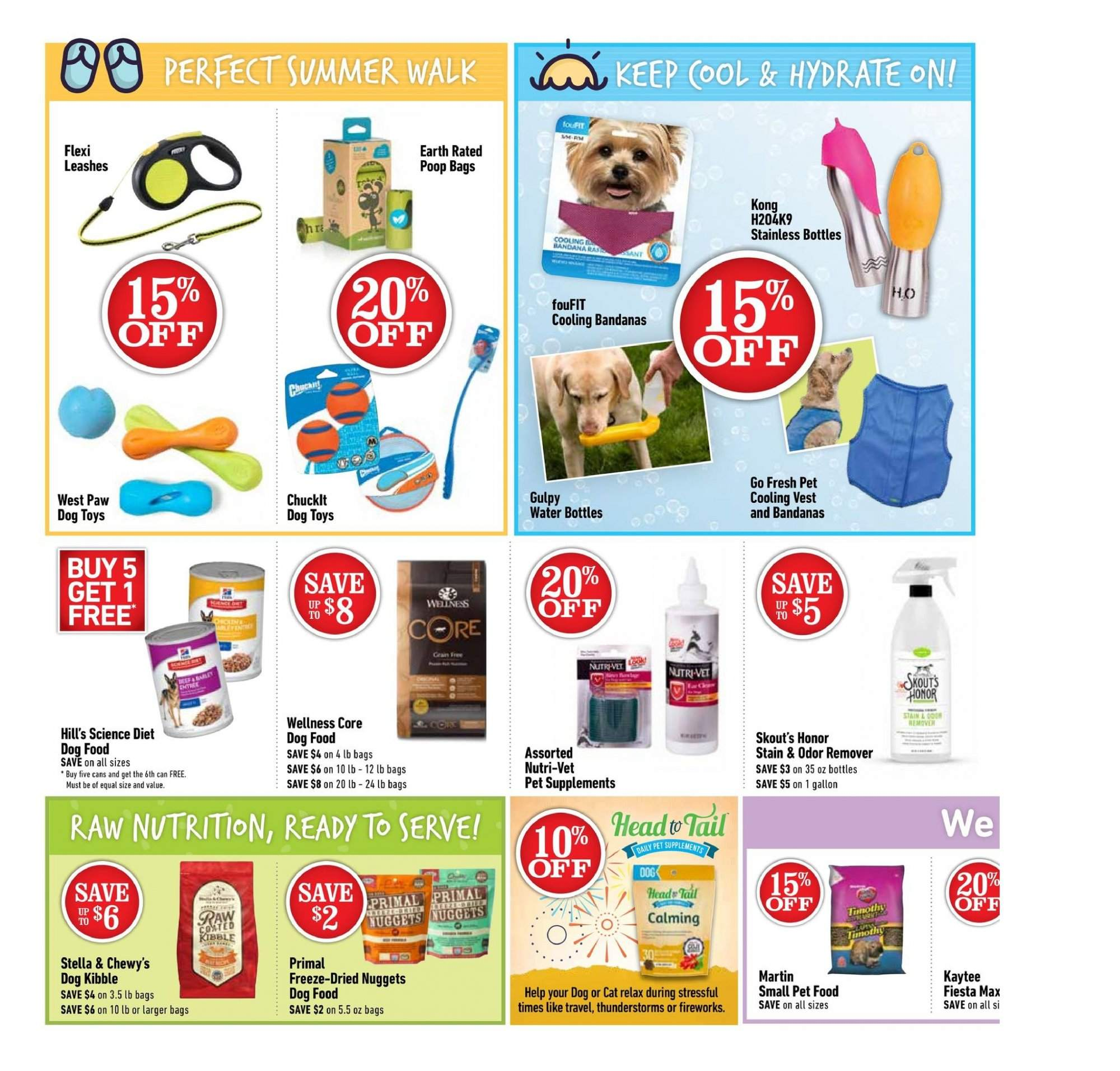 Pet Valu Flyer - July 05, 2018 - July 15, 2018 - Sales products - animal food, bag, dog food, dog toys, science diet, vest, pet, primal freeze, toys, nuggets. Page 2.