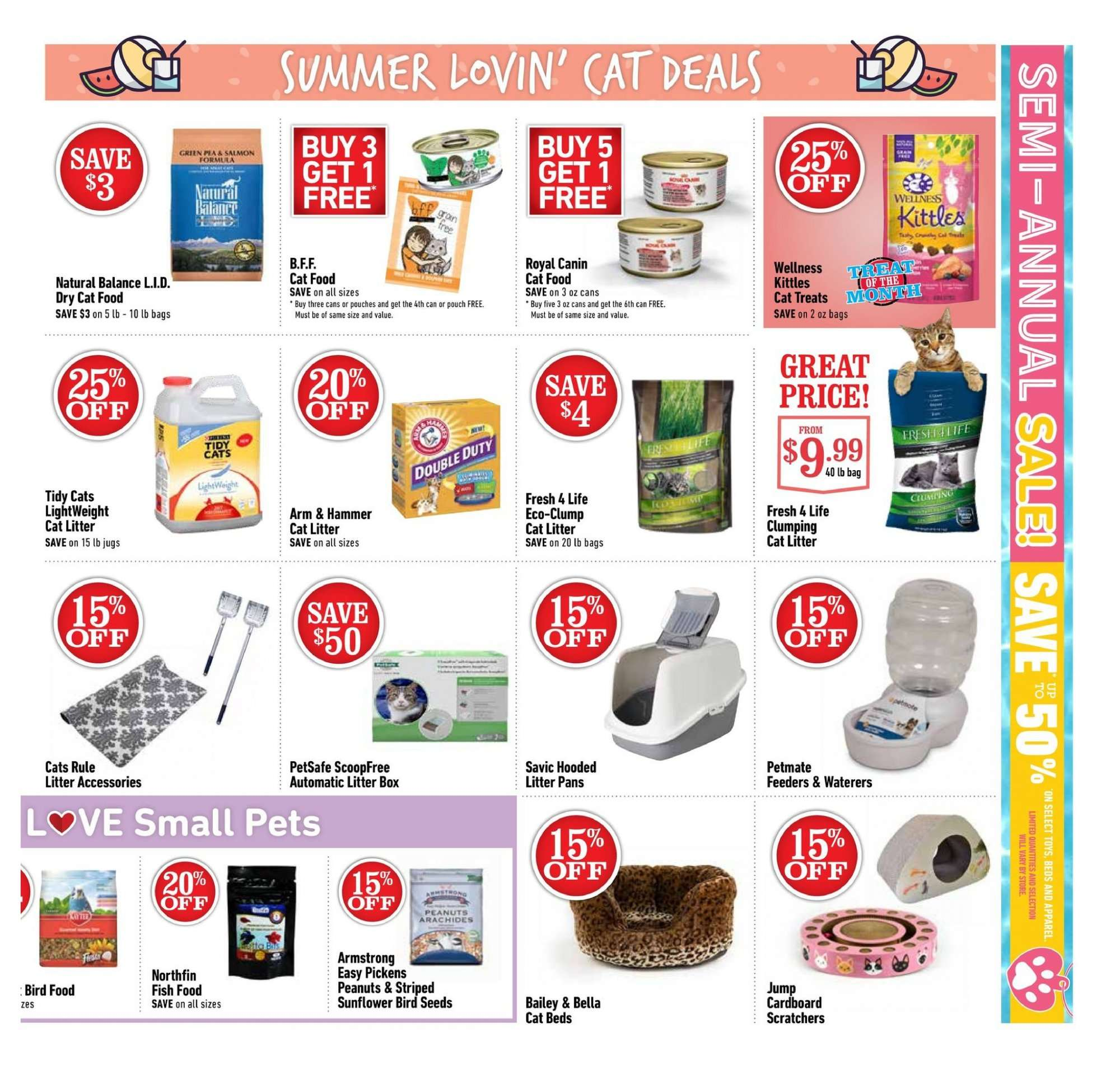 Pet Valu Flyer - July 05, 2018 - July 15, 2018 - Sales products - animal food, arm & hammer, bag, bella, bird food, cat food, cat litter, litter, royal canin, salmon, pet, peanuts, hammer, pets. Page 3.