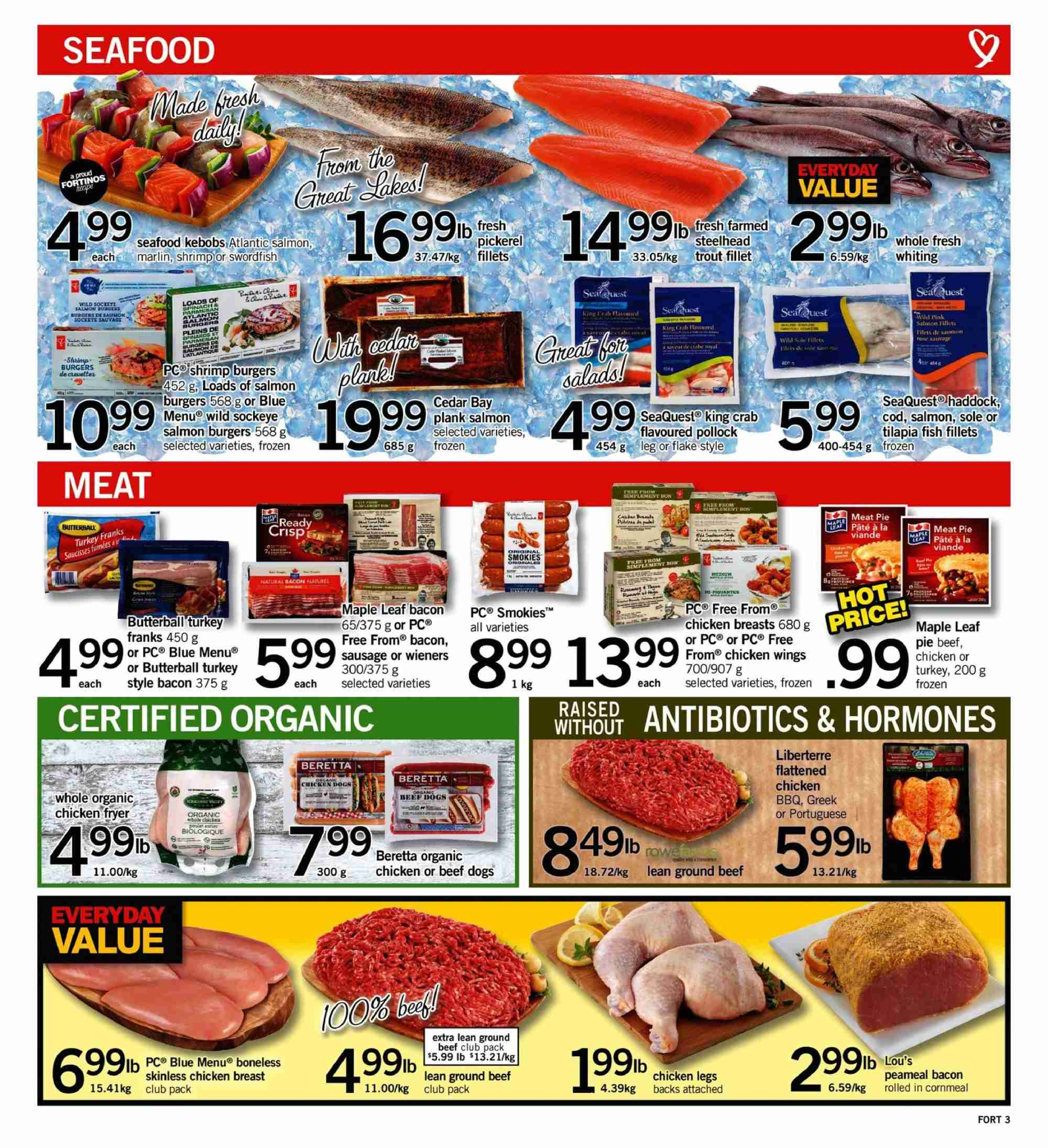 Fortinos Flyer  - July 26, 2018 - August 01, 2018. Page 3.