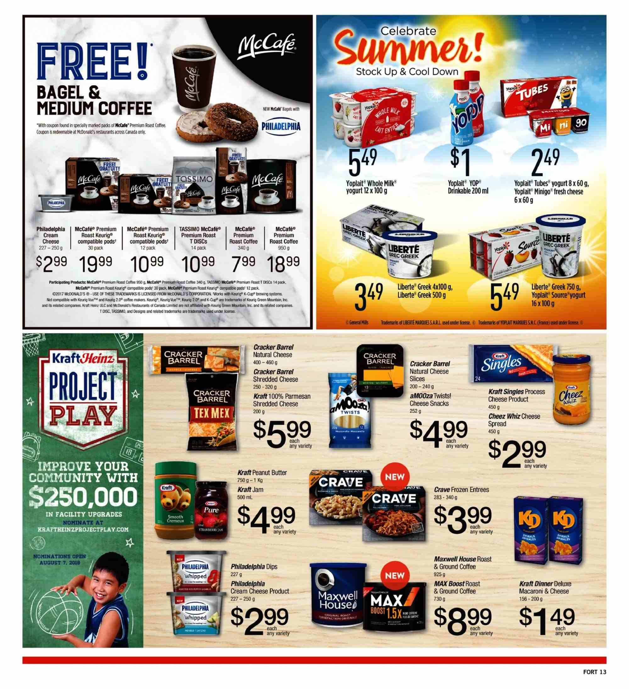 Fortinos Flyer  - July 26, 2018 - August 01, 2018. Page 13.