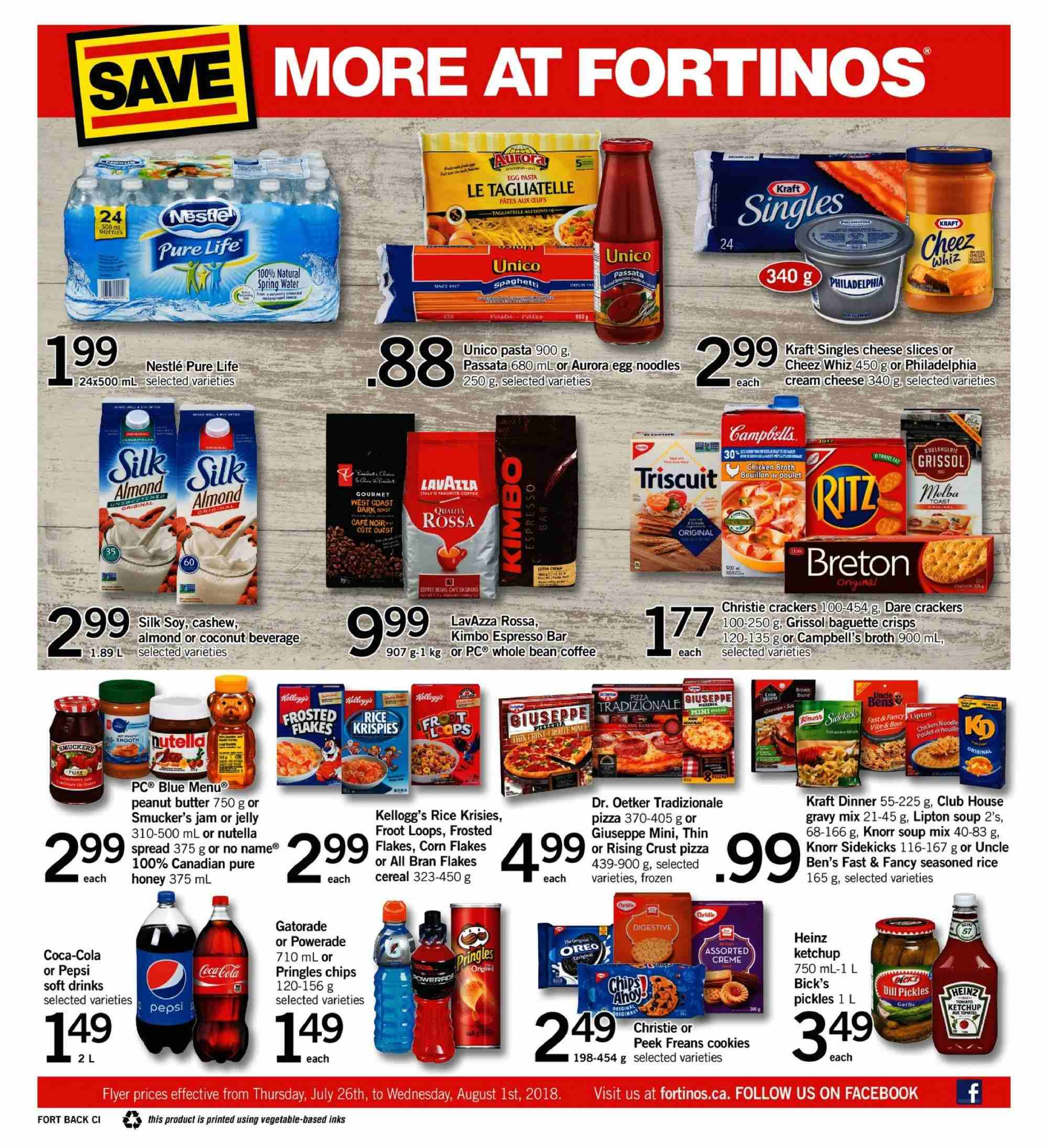 Fortinos Flyer  - July 26, 2018 - August 01, 2018. Page 16.
