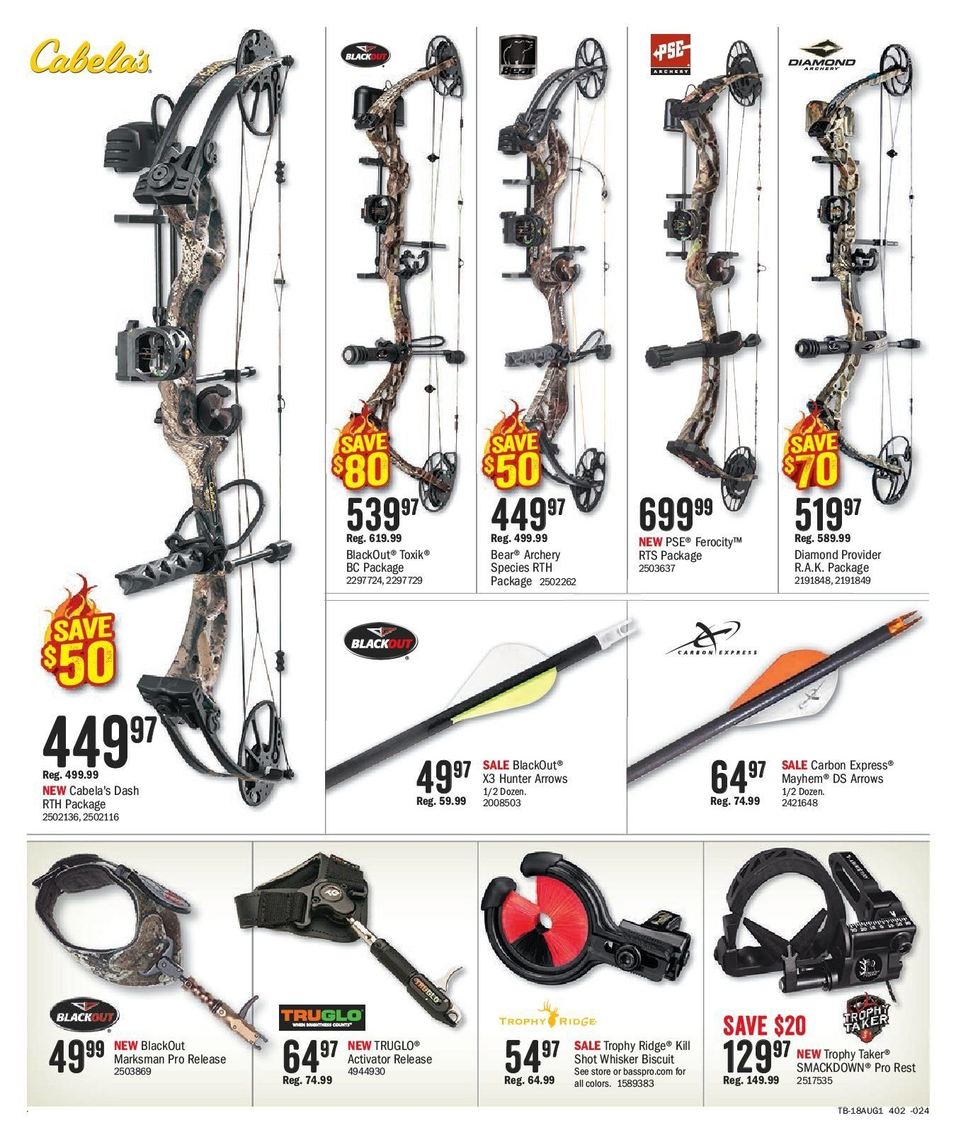 Bass Pro Shops Flyer  - July 27, 2018 - August 12, 2018. Page 8.