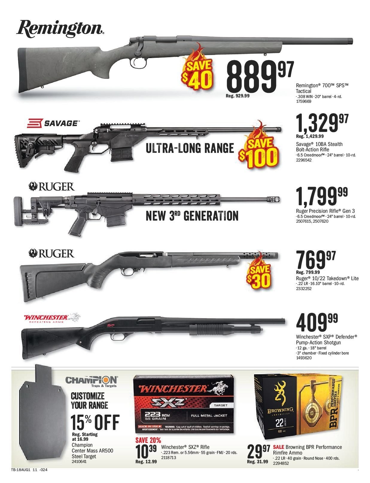 Bass Pro Shops Flyer  - July 27, 2018 - August 12, 2018. Page 15.