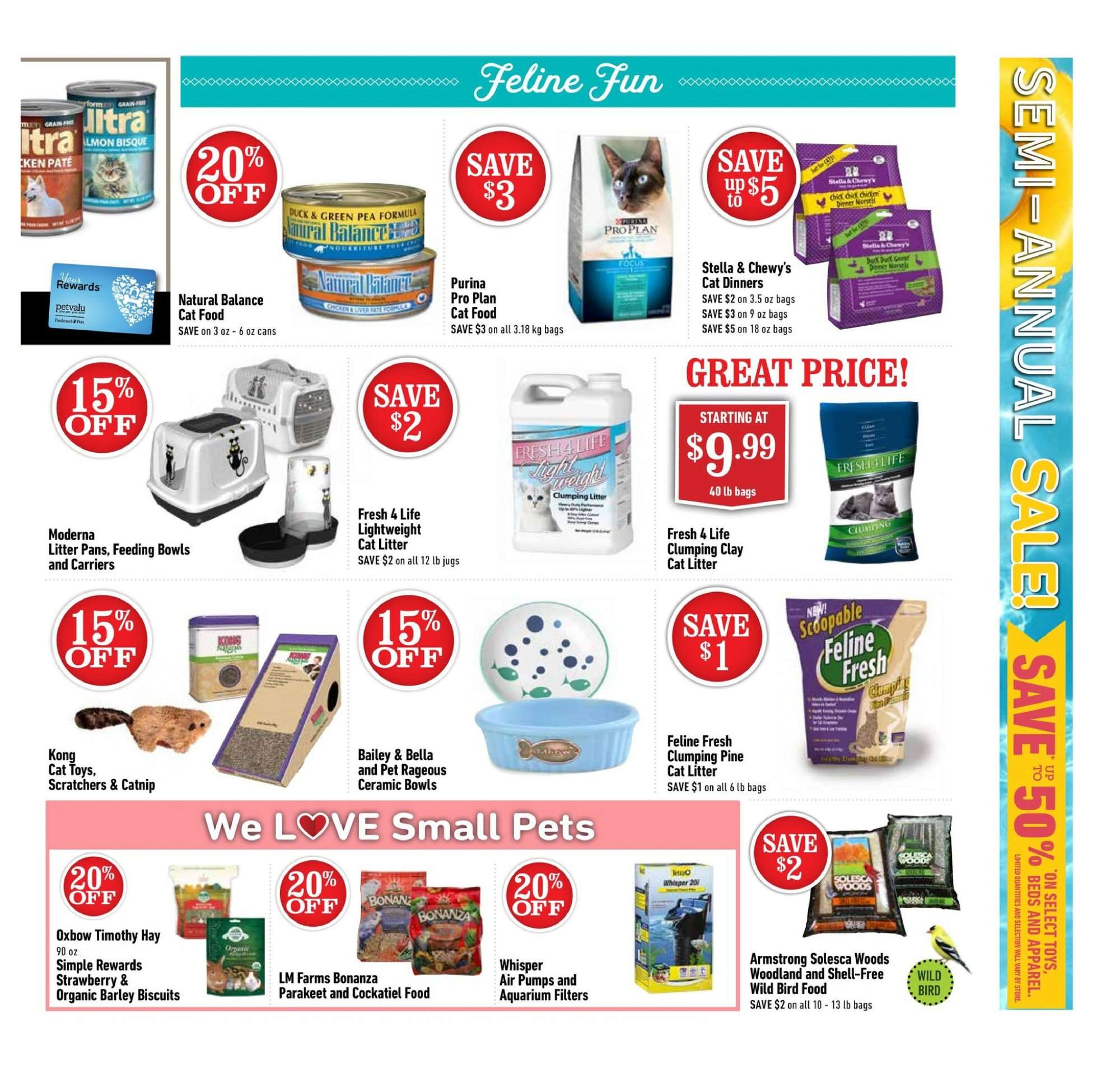 Pet Valu Flyer - August 02, 2018 - August 12, 2018 - Sales products - animal food, bag, barley, bella, bird food, biscuits, bowl, cat food, cat litter, litter, shell, pet, pine, pro plan, purina, organic, strawberry, aquarium, biscuit, pets, pâtes. Page 3.