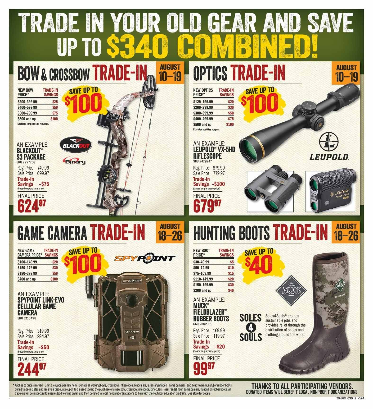 Bass Pro Shops Flyer  - August 10, 2018 - August 26, 2018. Page 2.