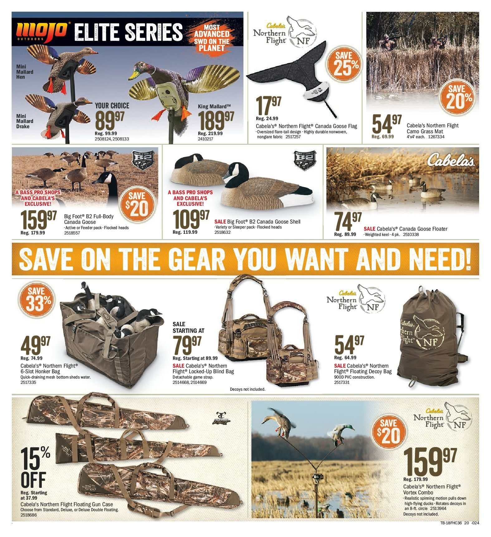 Bass Pro Shops Flyer  - August 10, 2018 - August 26, 2018. Page 20.