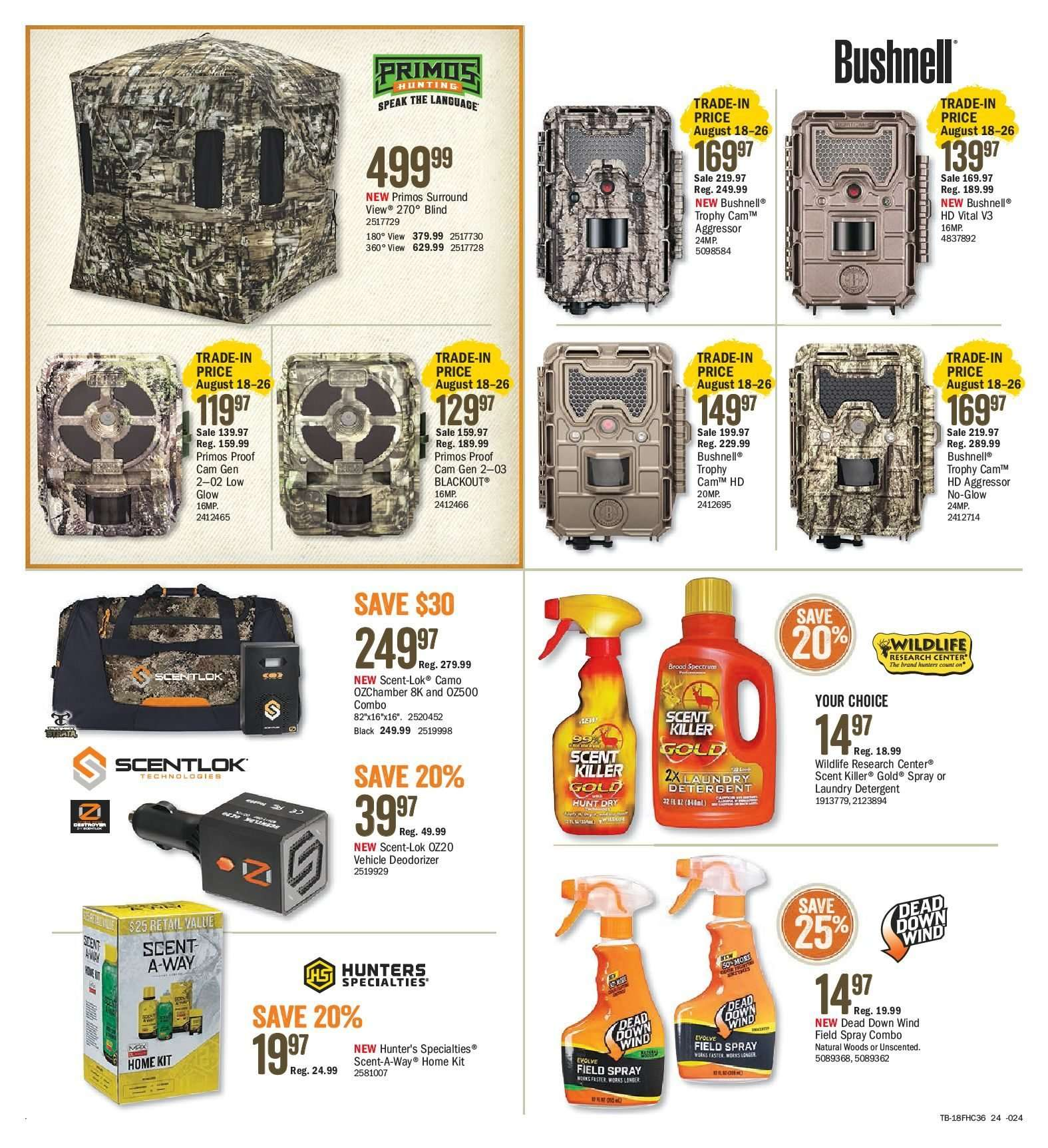 Bass Pro Shops Flyer  - August 10, 2018 - August 26, 2018. Page 24.