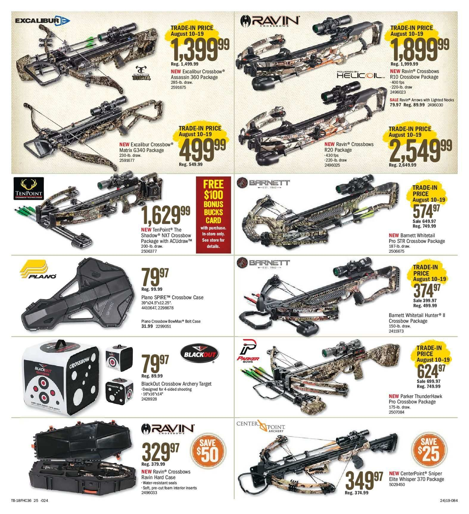 Bass Pro Shops Flyer  - August 10, 2018 - August 26, 2018. Page 25.