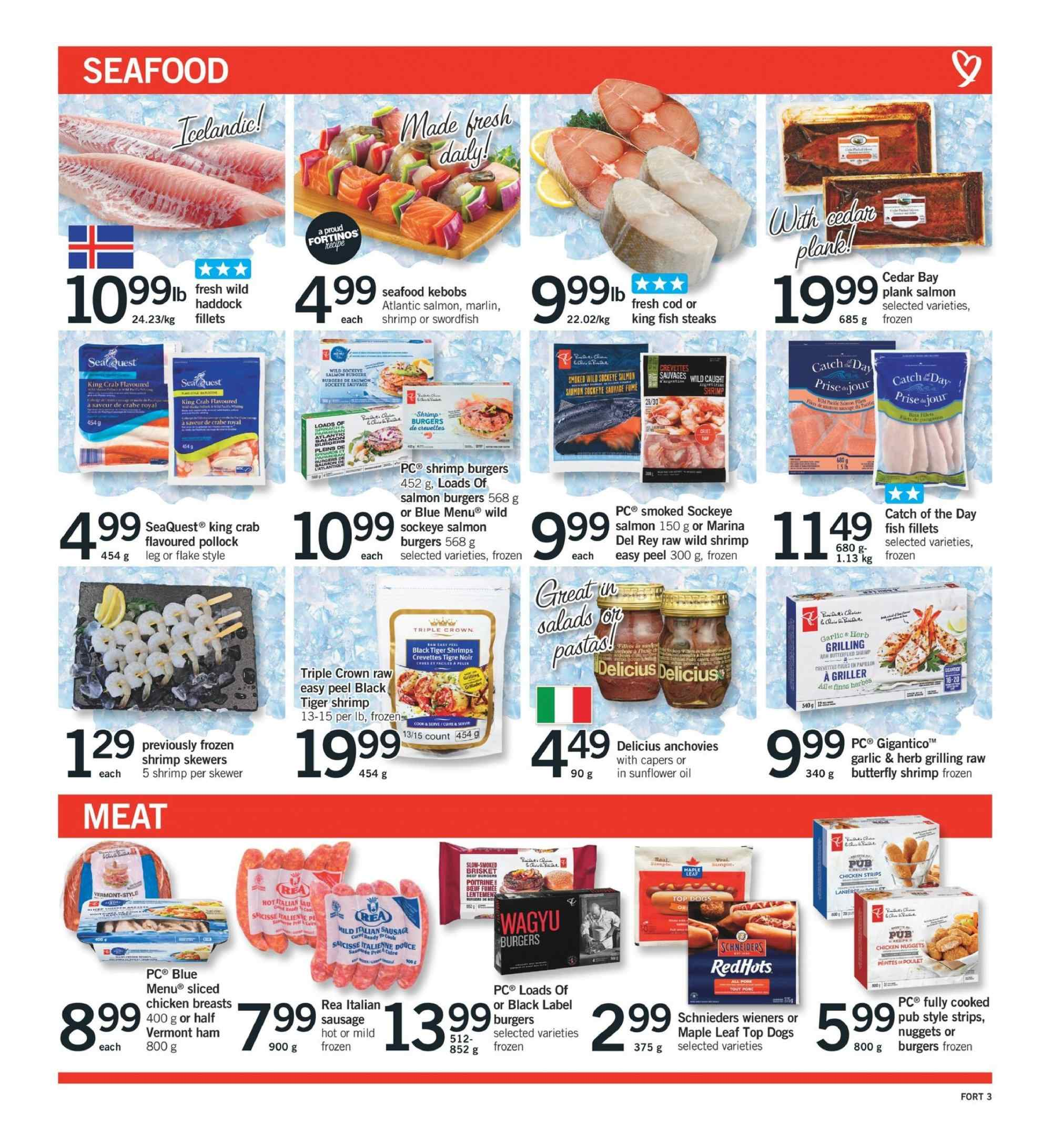 Fortinos Flyer  - August 23, 2018 - August 29, 2018. Page 3.