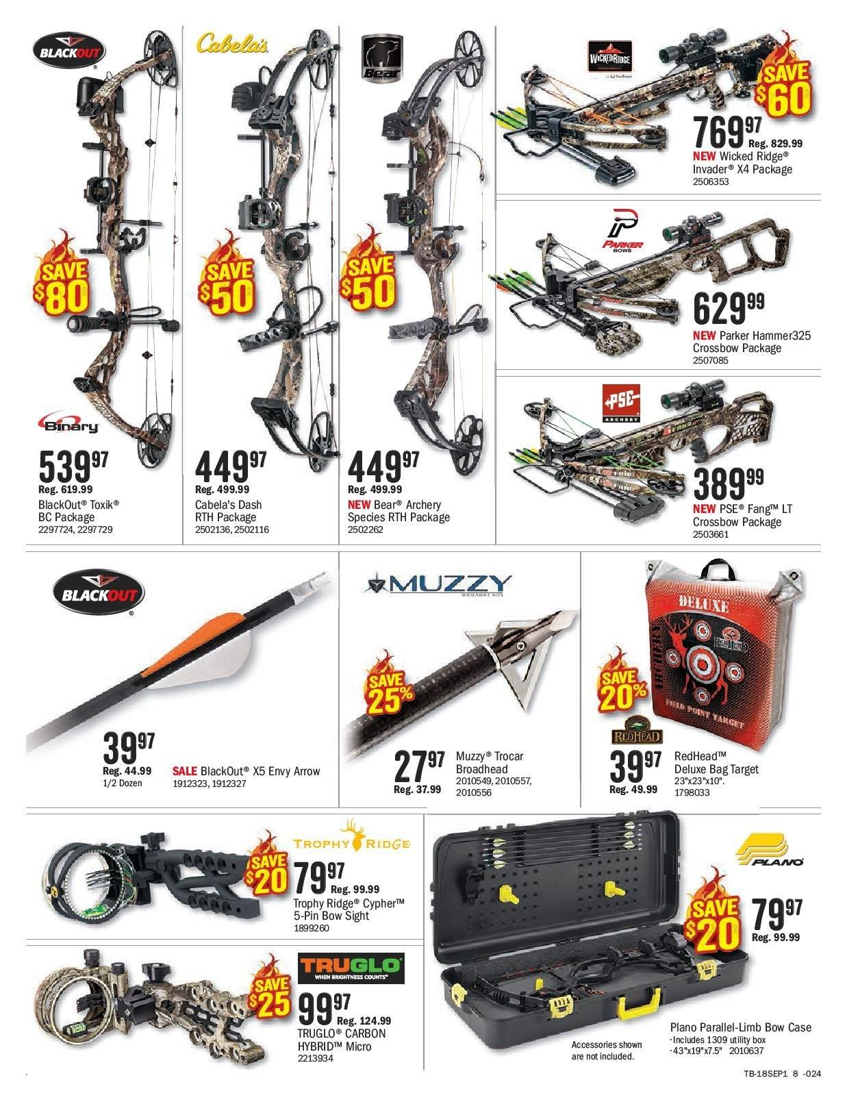Bass Pro Shops Flyer  - August 27, 2018 - September 09, 2018. Page 8.