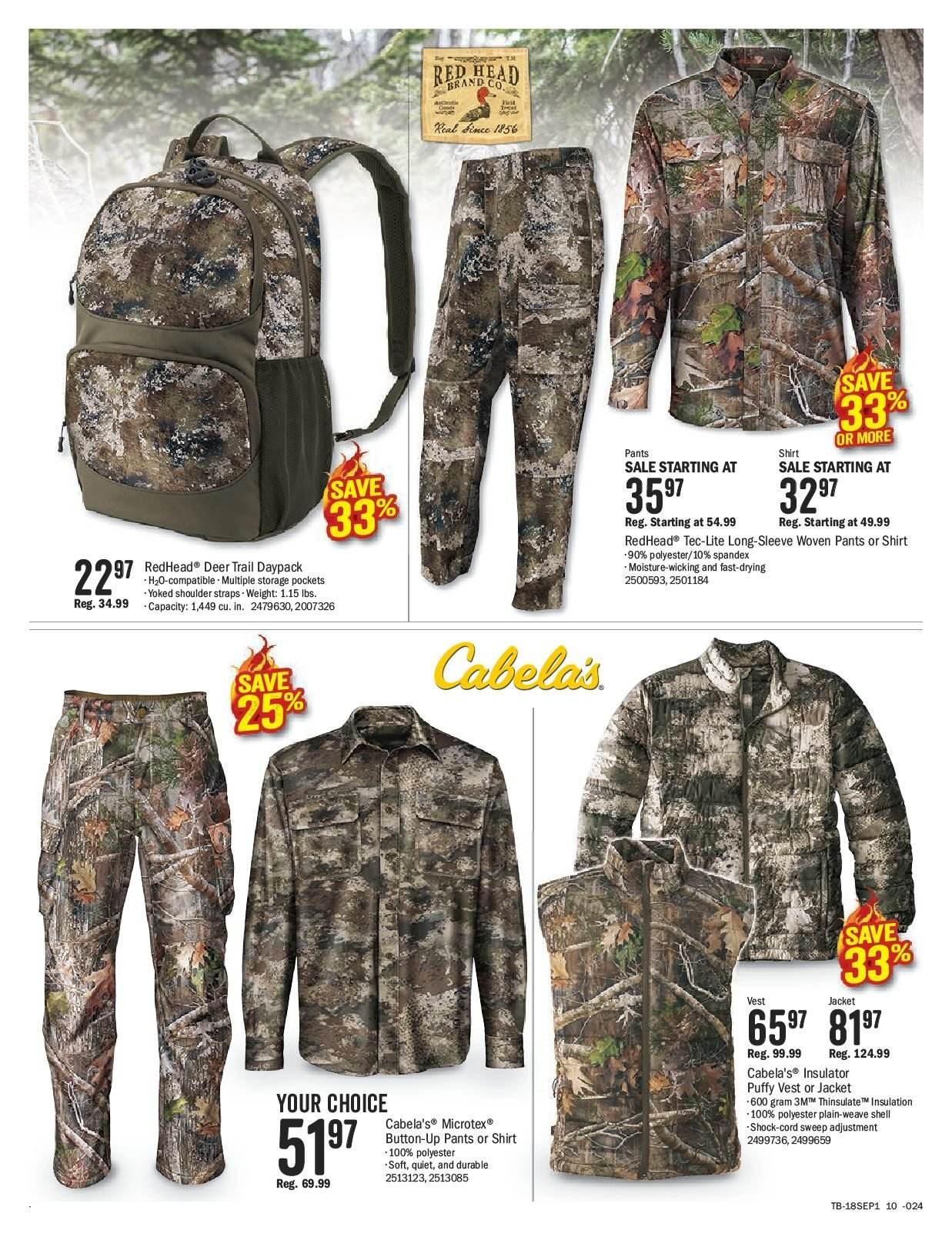 Bass Pro Shops Flyer  - August 27, 2018 - September 09, 2018. Page 10.