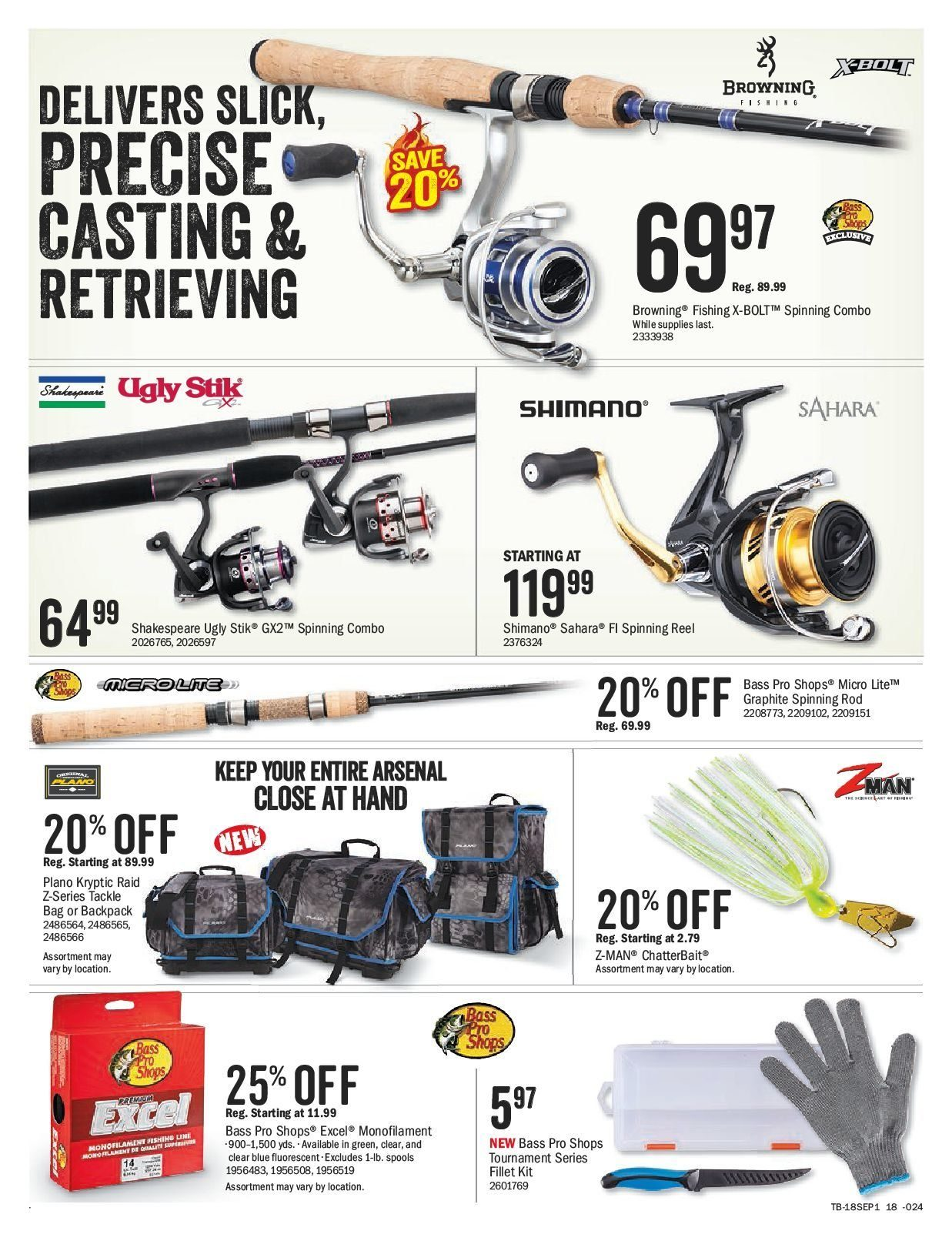 Bass Pro Shops Flyer  - August 27, 2018 - September 09, 2018. Page 18.