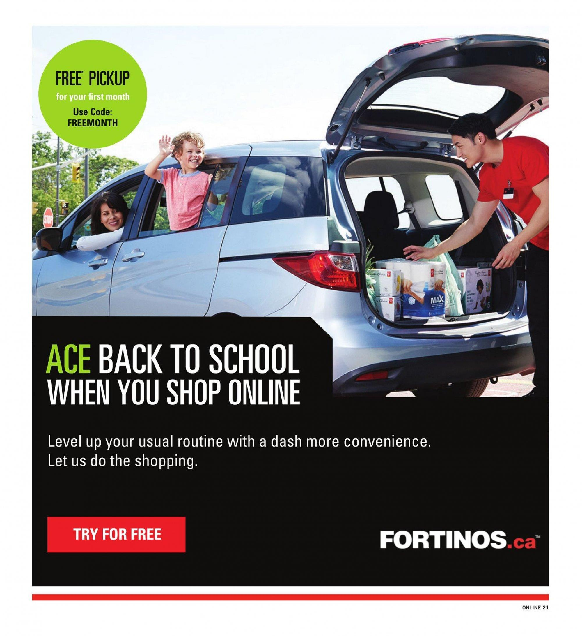 Fortinos Flyer  - August 30, 2018 - September 05, 2018. Page 21.