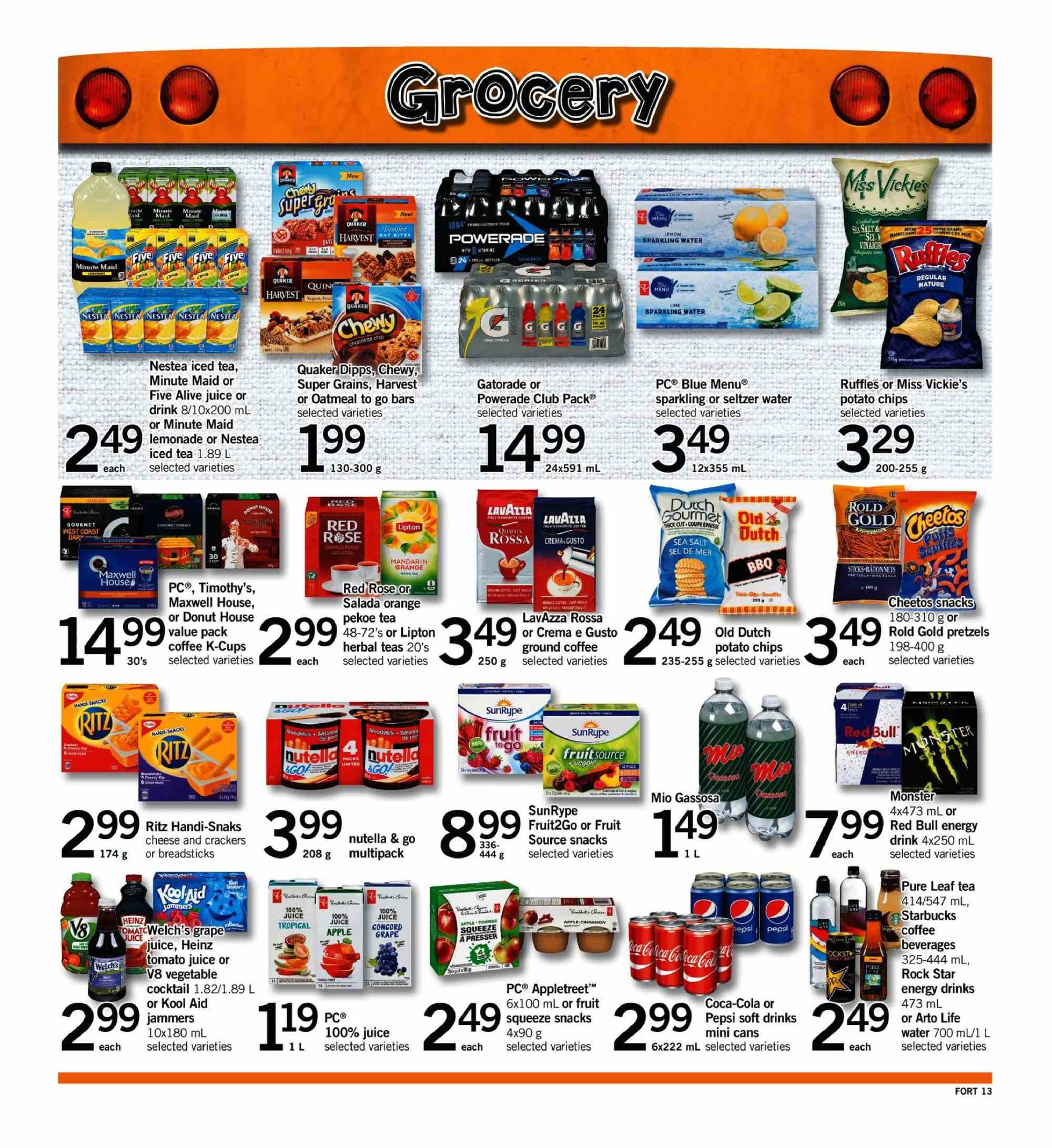 Fortinos Flyer - September 06, 2018 - September 12, 2018 - Sales products - kool aid, water. Page 13.