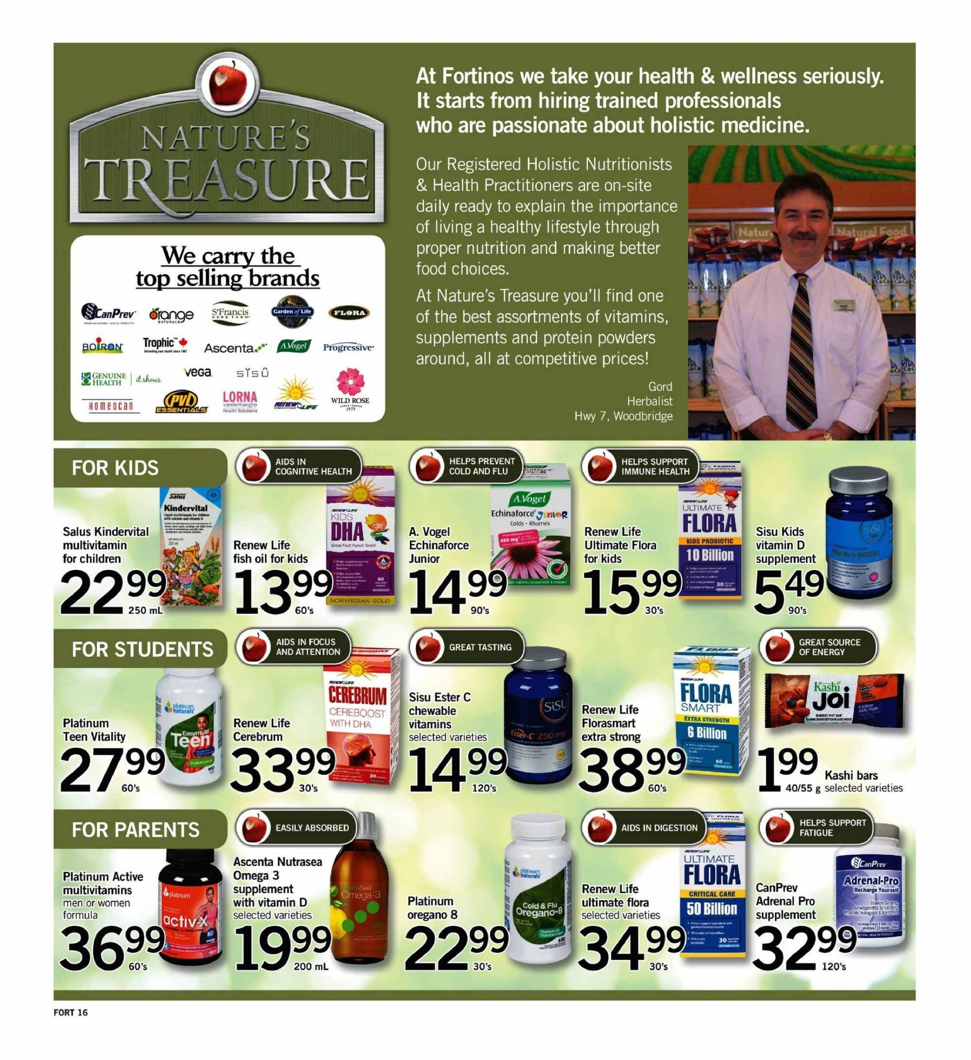 Fortinos Flyer  - September 06, 2018 - September 12, 2018. Page 16.