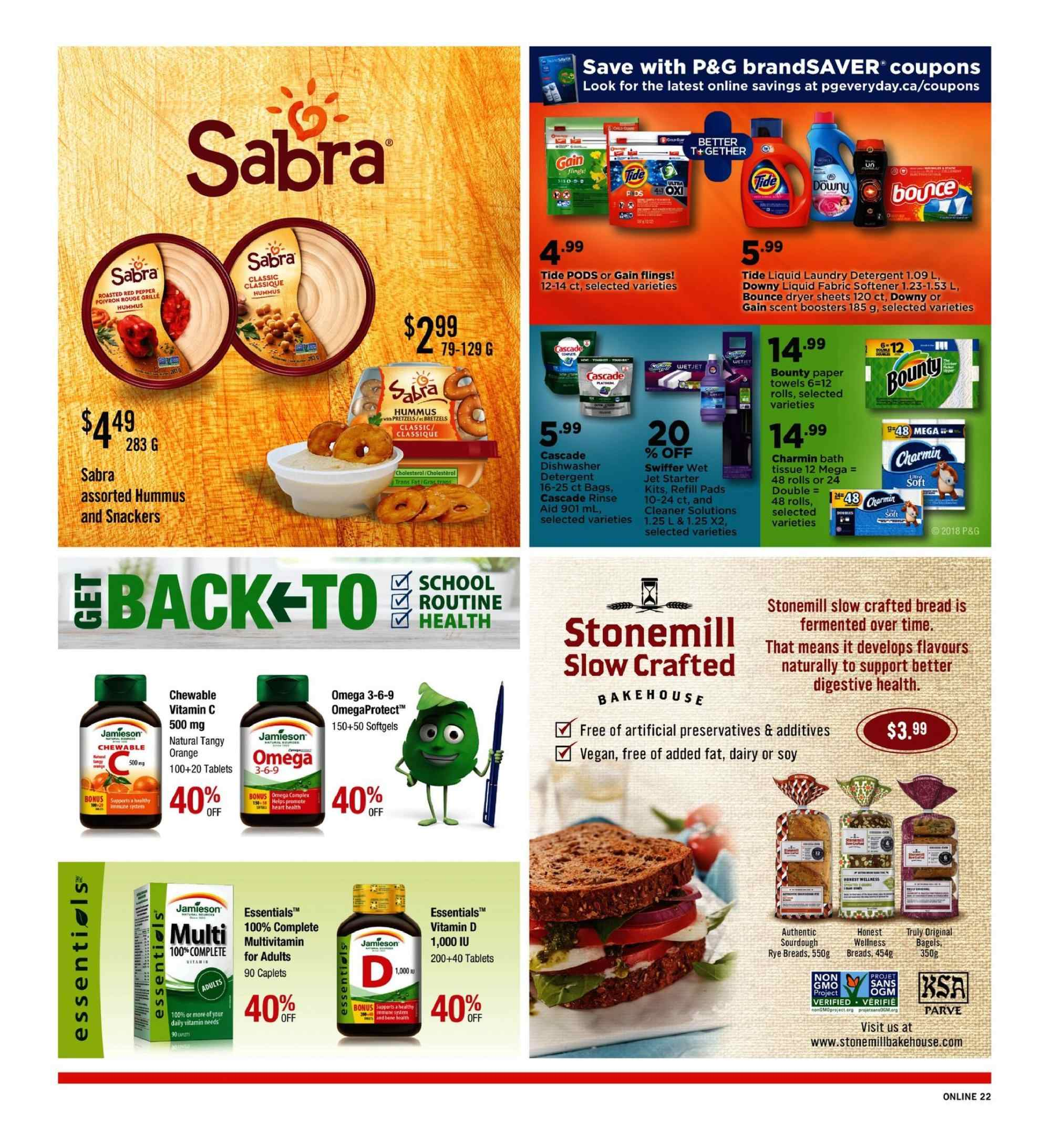 Fortinos Flyer - September 06, 2018 - September 12, 2018 - Sales products - essentials. Page 22.