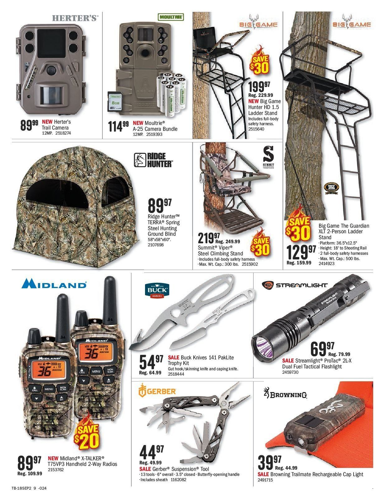 Bass Pro Shops Flyer  - September 07, 2018 - September 23, 2018. Page 9.